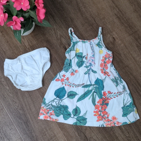 GAP Floral Sun Dress with Braided Straps